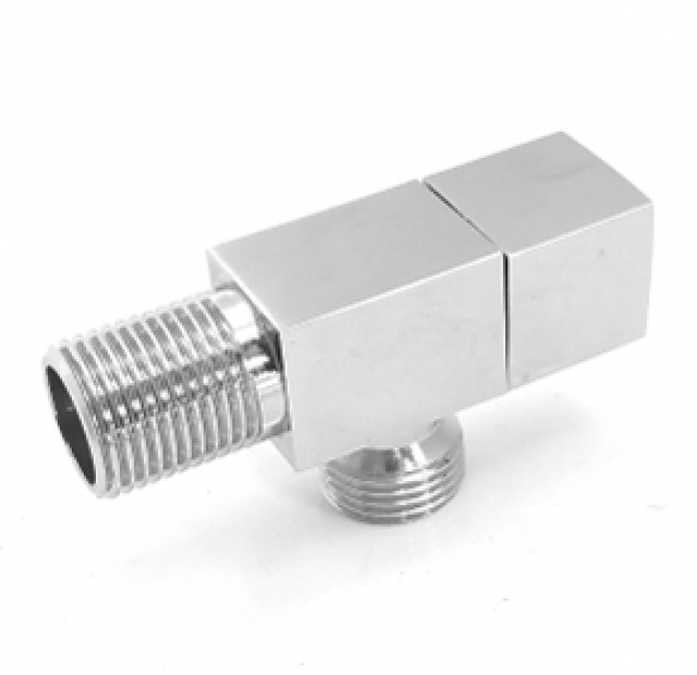 ANGLE VALVE CP 15MM LUXURY SQ